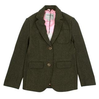 That's Not Fair London Girl's Wool-Blend Tweed Blazer
