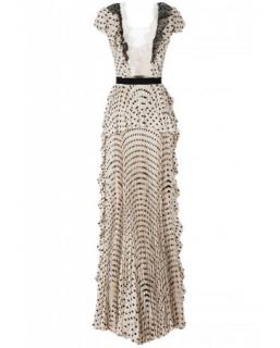 Elisabetta Franchi Ruffled Printed Gown