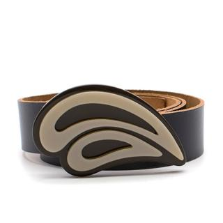 Marni Black Leather & Acrylic Belt