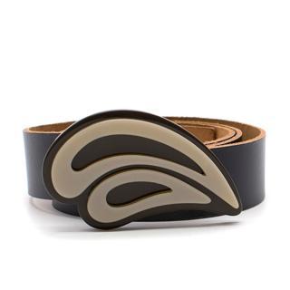 Marni Black Leather & Acrylic Belt
