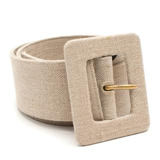 Yves Saint Laurent Vintage Beige Canvas Waist Belt