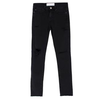 IRO Jarod Ajuste Distressed Black Jeans