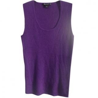 St.John purple wool blend knit top
