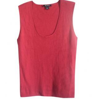 St.John dark red wool blend knit top