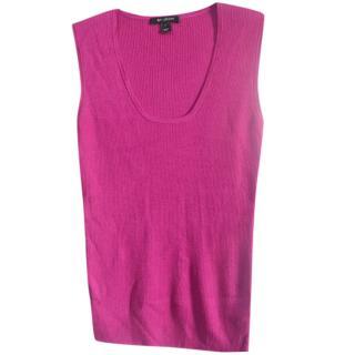 St.John dark pink wool blend knit top