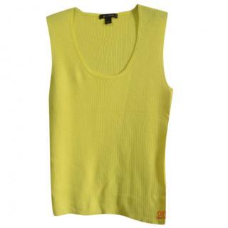 St.John yellow wool blend knit top