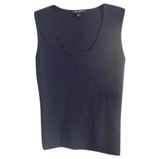 St.John dark blue wool blend knit top