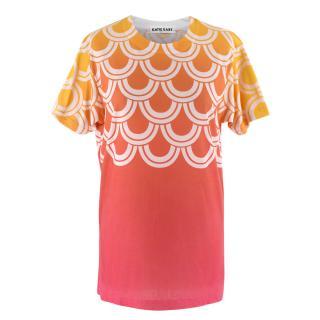 Katie Eary Orange Ombre Oversized T Shirt