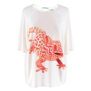 Katie Eary Cream Gecko Print T-shirt