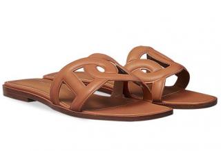 Hermes Omaha Tan Sandals