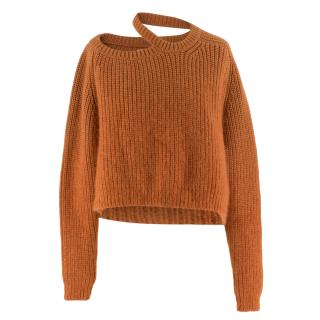 Katie Eary Men's Cold-Shoulder Cropped Sweater