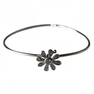 Tiffany & Co. Daisy By Paloma Picasso Platinum Diamond Daisy Bracelet
