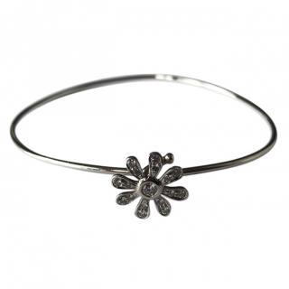 Tiffany & Co. Daisy By Paloma Picasso Platinum Diamond Daisy Bracelet