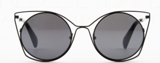 Yohji Yamamoto Black/Grey Cutout Cat Eye Sunglasses