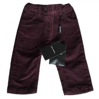 Dolce and Gabbana Boy's Burgundy Cords