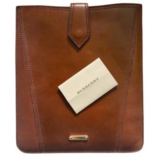 Burberry Tan Leather IPad Case