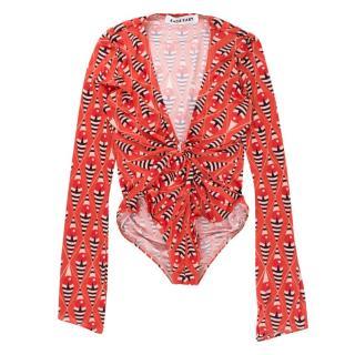 Katie Eary Orange Printed One-piece Swimsuit