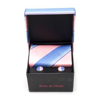 b22f24e3c420 Sarto di Moda Silk Stripes Tie and Cufflinks Giftset