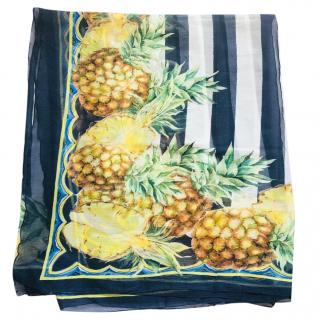 Dolce & Gabbana Pineapple print scarf sarong
