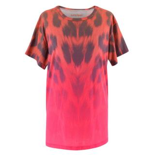 Katie Eary Men's Leopard Print Ombre Tshirt