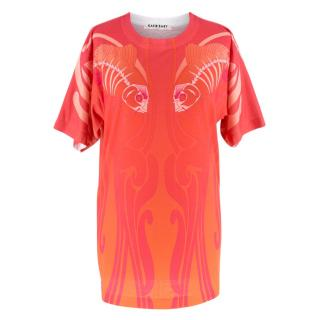 Katie Eary Men's Orange Printed T-Shirt
