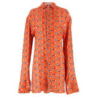 Katie Eary Eye Print Shirt Dress