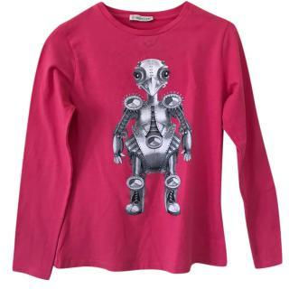 Moncler girl's pink t-shirt