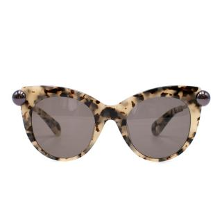 Christopher Kane Round Frame Tinted Sunglasses