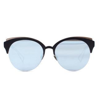 Dior Black Filigree Cat Eye Sunglasses