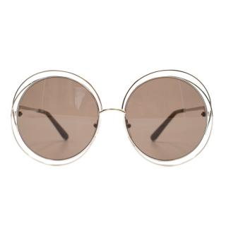 Chloe Carlina Round Sunglasses