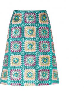 Manoush green sequin mini skirt