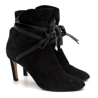 Jimmy Choo Black Suede Wrap Around Booties