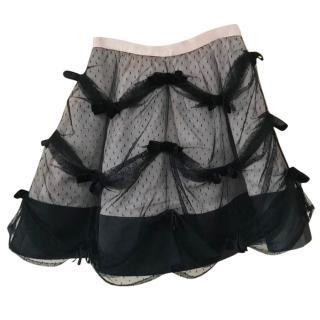 Red Valentino Black Tulle Skirt