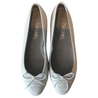 Chanel Grained Ballerina Flats