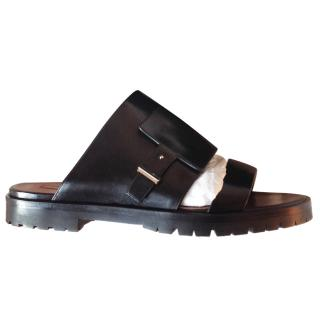 Hugo Boss Leather Foldover Sandals