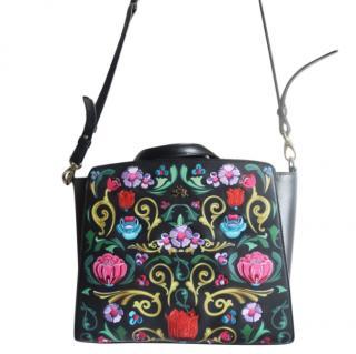 La Martina floral embroidered bag