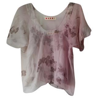 Marni Silk Floral Camisole Blouse Set