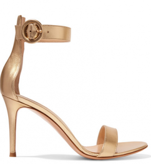 Gianvito Rossi Portofino 85 Metallic Gold Sandals
