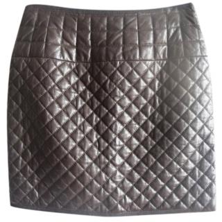 Paule Ka quilted leather mini skirt