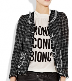 Moschino Chain-trimmed Tweed Jacket