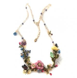 Les Nereides Handcrafted French Glazed Jewelled Couture Necklace