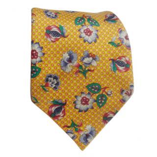 Balenciaga Silk yellow floral tie