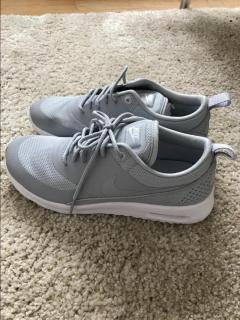 Grey Nike Air Max Thea Trainers