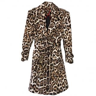 Alice and Olivia leopard print trench coat