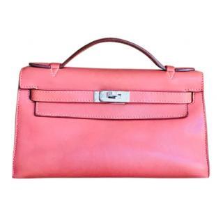 Hermes Bois de Rose Swift Leather Kelly Clutch