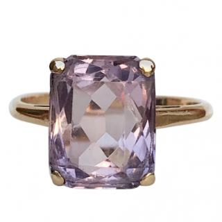 Bespoke 9ct Gold Amethyst Solitaire Ring