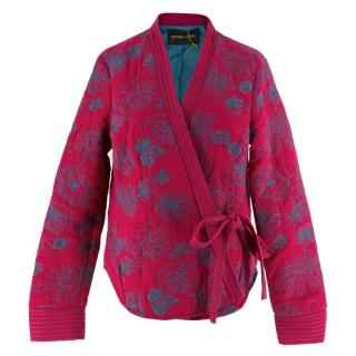 52203a5fff1 Stine Goya Floral Embroidered Padded Jacket