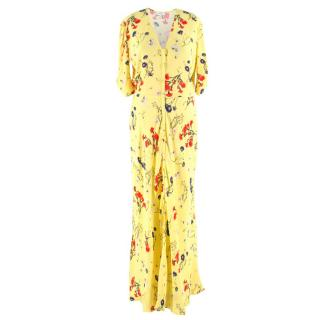 Ghost Yellow Floral Maxi Dress