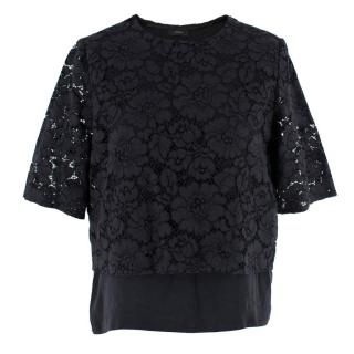 Joseph Silk & Lace Floral Top