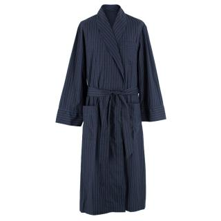 Burberry Men's Navy Striped Dressing Gown